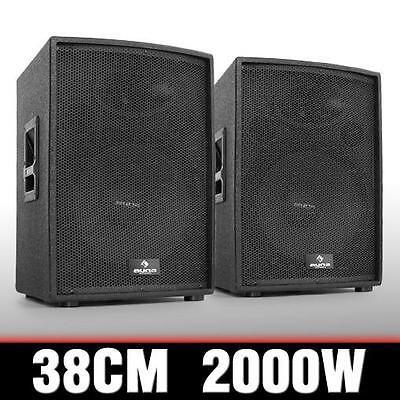 PROFI PA DISCO LAUTSPRECHER PAAR AKTIV BASS BOXEN SET 2x 1000W HIFI SOUND ANLAGE