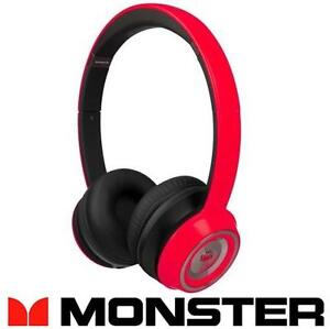 NEW OB MONSTER N-TUNE HEADPHONES CHERRY RED - ON-EAR HEADPHONES - ELECTRONICS - HOME AUDIO - WIRED - NEW OPEN BOX