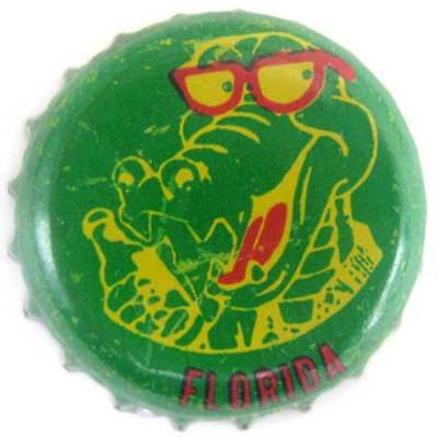 GROWLIN' GATOR used Beer CROWN bottle cap with Alligator Auburndale FLORIDA gd.1