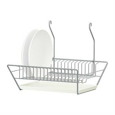 IKEA dish drainer w removable tray steel HANG or STAND kitchen rack ...