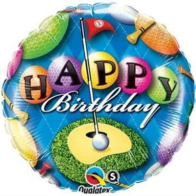Happy Birthday Golf - Happy Birthday Golf Designed Foil Balloon 18 Inch Birthday Party Decorations