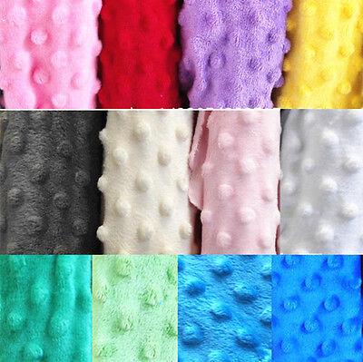 - Dimple Dot Soft Cuddle Fleece Fabric Baby Cloth Sew Craft Bedding Blanket Yard