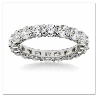 - 925 Sterling Silver Flawless Simulated Diamond Eternity Band Ring