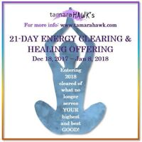 New Year Energy Clearing Session with Tamara Hawk