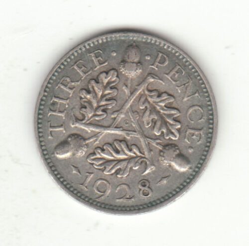 1928 Great Britain George V Silver Threepence. High Grade.