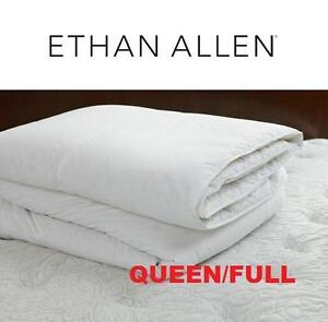 NEW ETHAN ALLEN QUEEN COMFORTER FULL DOWN ALTERNATIVE DUVET LUXURY BEDDING HYPOALLERGENIC 103616127