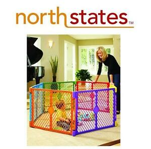 NEW NORTH STATES 6 PANEL PLAY YARD BABY PLAY AREA - PLAY PEN 103214174