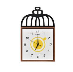 D296 Modern Style Mute Wood Originality Decoration Wall Clock 14 Inch A