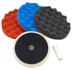 3 WAFFLE FOAM PAD BUFFING POLISHING KIT Auto Car Polish