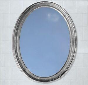 Bathroom-Mirror-Vanity-Oval-Framed-Wall-Mirror-Satin ...