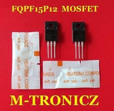2pcs  Fqpf15p12 Q-fet P-channel Mosfet  2 Pkg Heat Sink Compound