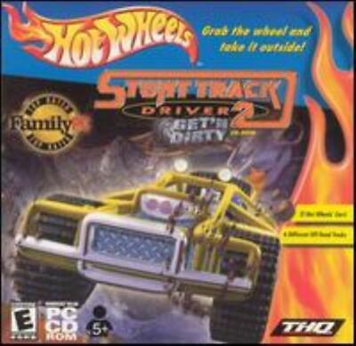 Hot Wheels: Stunt Track Driver 2 PC CD off-road dirt truck racing vehicles game!