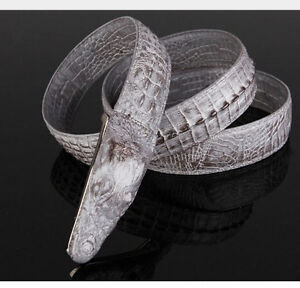 2014 New Crocodile-Embossed Real Leather Genuine Belt Alligator Design 100-120CM