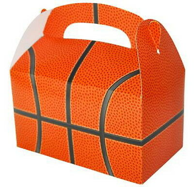 24 BASKETBALL  PARTY TREAT BOXES FAVORS GOODY BAG  PRIZE GIFT BASKET CARNIVAL - Basketball Goodie Bags