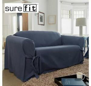 NEW SUREFIT LOVESEAT SLIPCOVER MUSKOKA HOME HOUSE FURNITURE 1-PIECE PERWINKLE RELAXED FIT 102002141