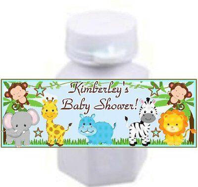 Animal Bubbles (30 Jungle Safari Animals Birthday Party Baby Shower Bubble Labels Stickers)