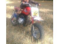 Kids 50cc semi- auto motorbike