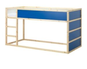 IKEA loft bed blue with cover