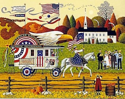Charles Wysocki Hand Signed and # Print SO PROUDLY WE HAIL #1892/2000 AUTUMN
