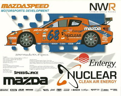 2010 Speedsource Race Engineering  68 Entergy Mazda Rx 8 Gt Grand Am Postcard