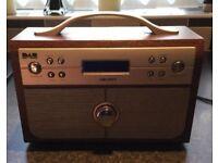 As New - Bush Mahogany Portable Digital DAB / FM Radio