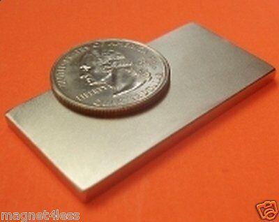 Used, 1 Grade N42 2x1x1/8 Inch Rare Earth Neodymium Block Magnet 2x1x.125 for sale  Plano