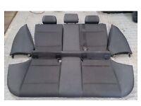 BMW 1-Series half leather rear seats