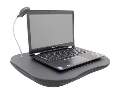 Cushioned Black Laptop tray with Adjustable LED Light , Laptop Accessories, New