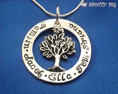 Personalisiert Halskette Familie Baum des Lebens Namen, Geschenk, Oma Mutter