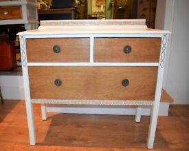 Beautiful Oak - Off White Chest of Drawers