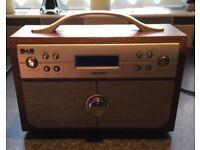 As New - Bush Mahogany Colour NE-3160 Portable Digital DAB / FM Radio