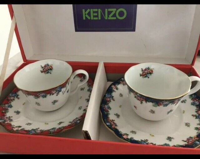 New ☆ KENZO  Bagatelle Cup & Saucer-Pair Floral Pattern