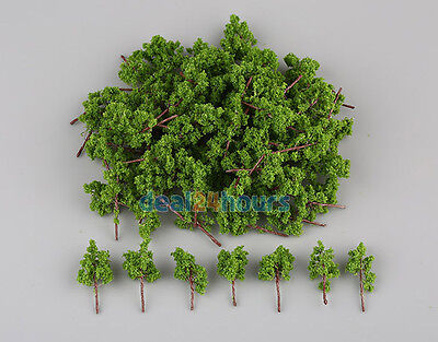 Used, 100Pcs Green Trees Model For N Z scale Garden Park Street Layout Diorama 38mm for sale  USA