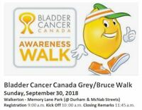 Grey/Bruce Bladder Cancer Canada Awareness Walk - Sun Sept 30