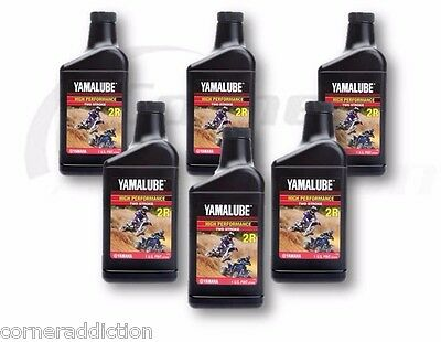 Yamalube 2R 2 Stroke High Performance Racing Oil 6 -32 oz Bottles, 6 Quarts
