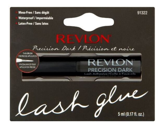 Revlon Precision Eyelash Glue Brush On Lash Adhesive Dark (Black Tone) 5ml