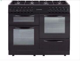 Cookworks CCL100DFB Dual Fuel Range Cooker - Black