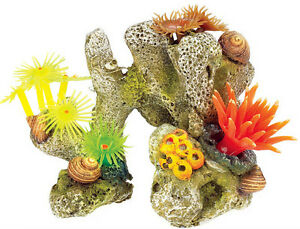 Coral Stone with Plants Aquarium Decoration Fish Tank Ornament 3060