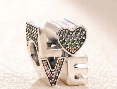 NEW Authentic Pandora Silver Multi-Color CZ Love Charm 797189NRPMX -