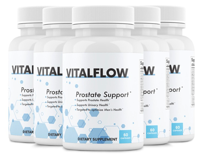 5 Bottles VitalFlow Prostate Support Formula Supplement 60 Capsules