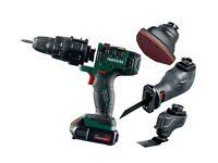 16V Cordless Multi Tool Accessories Drill Sabre Saw Sander Battery Grip Chuck Workshop Garage DIY