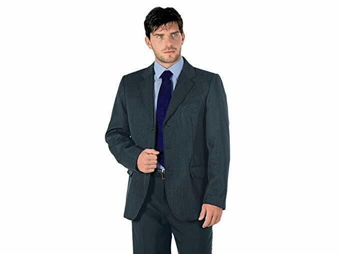Giacca da lavoro Uomo Albergo Reception Abbigliamento Agente Elegante GRIGIO XL
