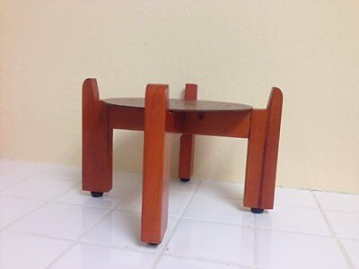Red Oak Wood Counter Stand For Ceramic Porcelain Water Dispenser Crock Vase Pot