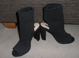 beautiful black heeled boots