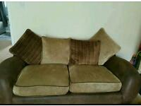2 sofas brown/beige