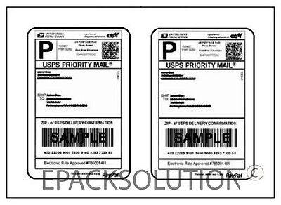 1000 Round Corner 4.5 X 7 Self Adhesive Shipping Labels 2sheet