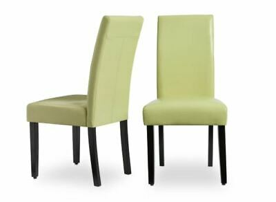 NEW Faux Leather Green Kitchen Dining Chairs Set of 2 Bar Table Durable Cheap