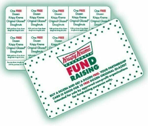 KRISPY KREME BOGO Cards **BUY 1 GET 1 Dozen**10 OFFERS PER CARD *Gift/Fundraiser