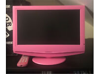 Pink TV/DVD Freeview 15 inch