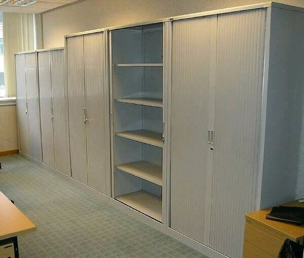 HIGH QUALITY TAMBOUR SLIDING DOOR TALL OFFICE WORKSHOP ...